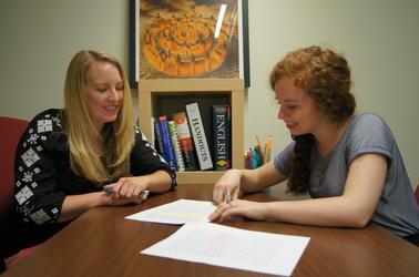 female student and female tutor