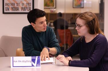 Two mentors having a conversation