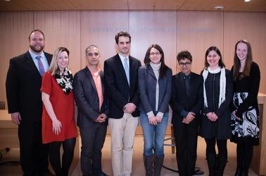 Glen Davenport, Jennifer Atchley, Helmsley Scholars, Jennifer Frederick and Elizabeth Luoma